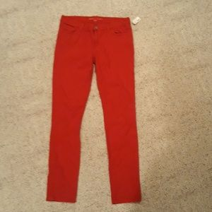 Womens skinny red Jean's banana republic